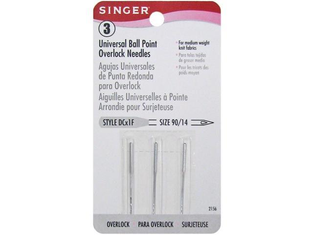Regular Point Overlock Machine Needle-Size 90/14 3/Pkg