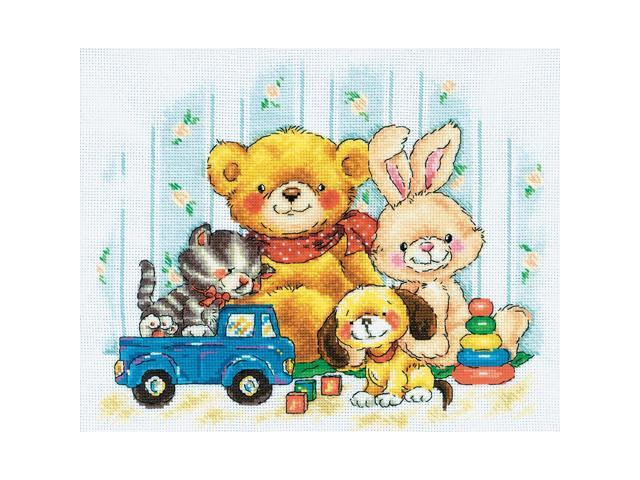 Toys Counted Cross Stitch Kit-11-3/4