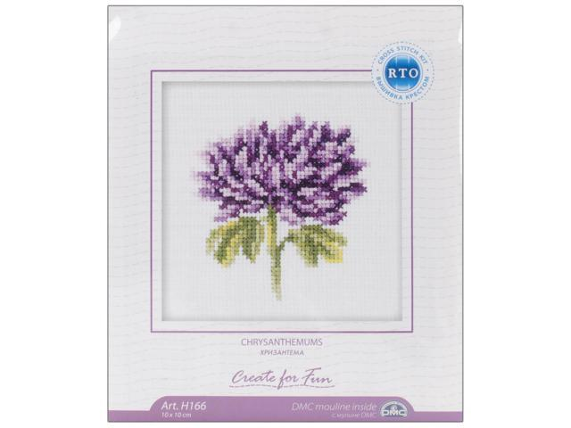 Chrysanthemums Counted Cross Stitch Kit-4