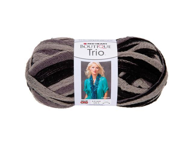 Red Heart Boutique Trio Yarn-Grey Scale