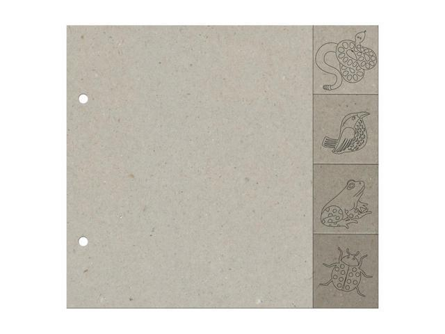 Die-Cut Grey Chipboard Album-Rustic