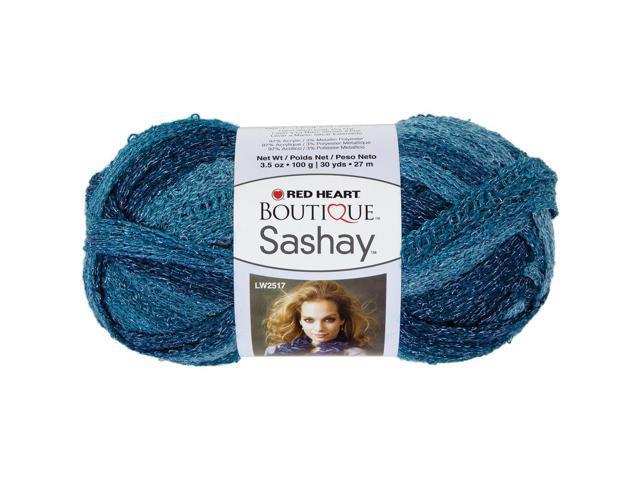 Red Heart Boutique Sashay Metallic Yarn-Aquamarine