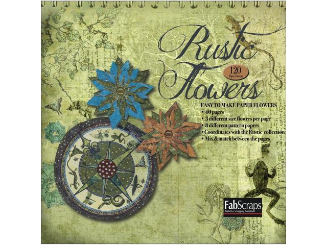 Rustic Paper Flowers Die-Cut Pad-Makes 120 Flowers