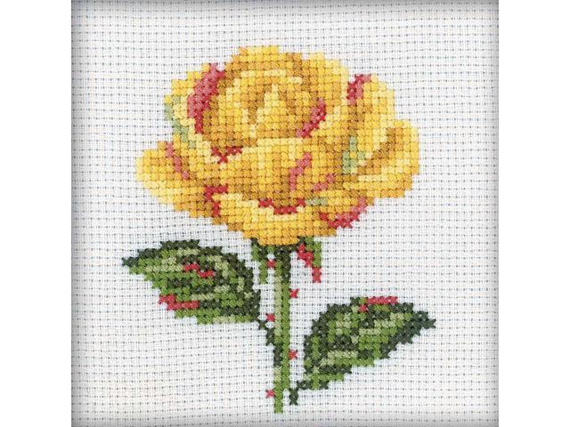 Yellow Rose Counted Cross Stitch Kit-4