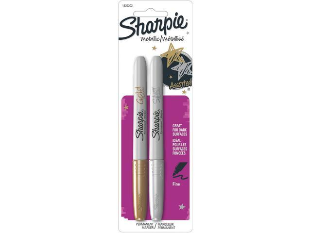 Sharpie Metallic Permanent Markers 2/Pkg-Gold & Silver