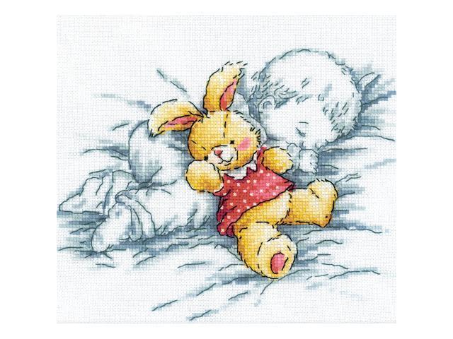 Baby W/Rabbit Counted Cross Stitch Kit-8