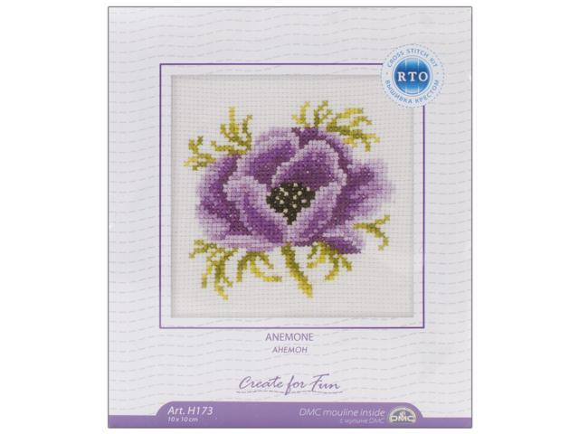 Anemone Counted Cross Stitch Kit-4