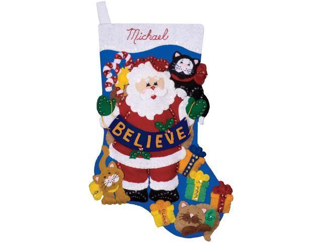 Believe Stocking Felt Applique Kit-17