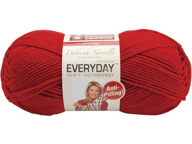 Everyday Anti-Pilling Soft Worsted Solids Yarn-Really Red