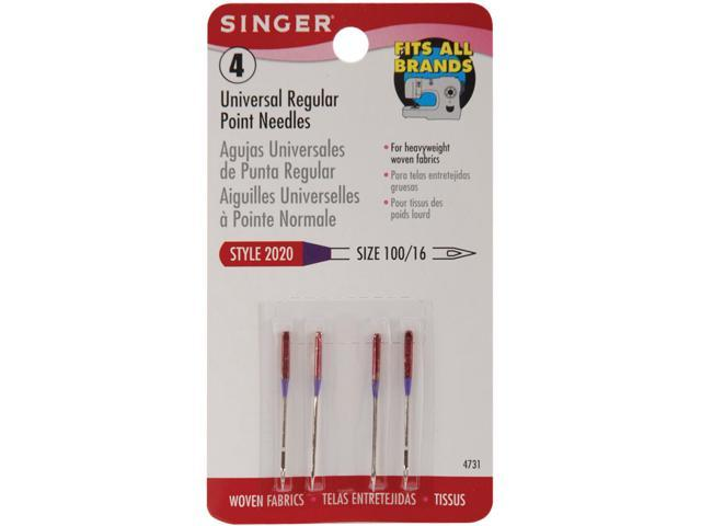 Regular Point Machine Needles-Size 16/100 4/Pkg