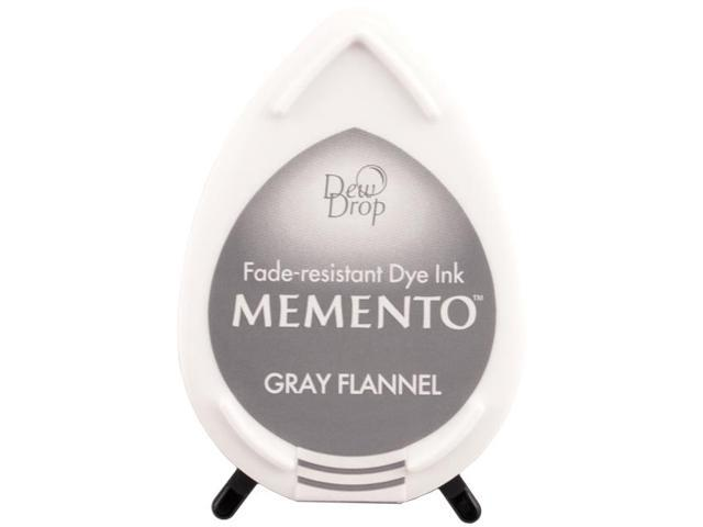 Memento Dew Drop Dye Inkpad-Gray Flannel