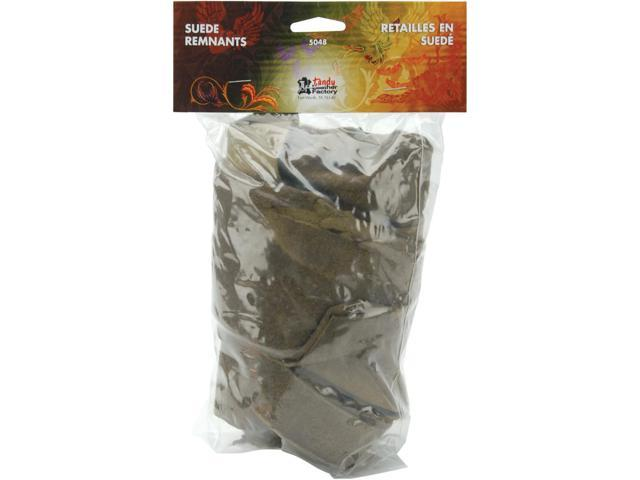 Leather/Suede Remnant Pack-Earthtones 1/2 Pound