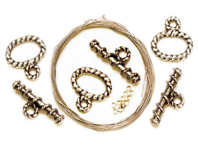 Precious Accents Gold Plated Metal Beads & Findings-Starter Kit
