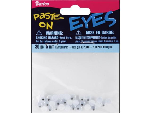 Paste-On Wiggle Eyes 5mm 30/Pkg-Black