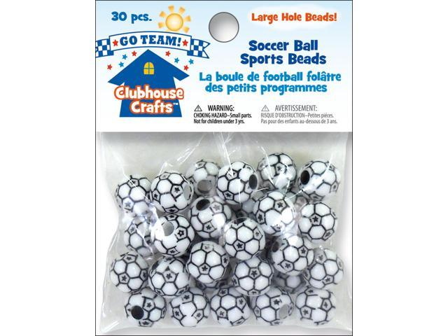 Clubhouse Sports Beads-Soccer Ball 30/Pkg