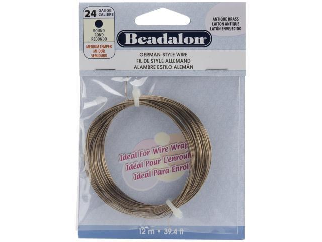 German Style Wire-Antique Brass 24 Gauge 39.36 Feet/Pkg