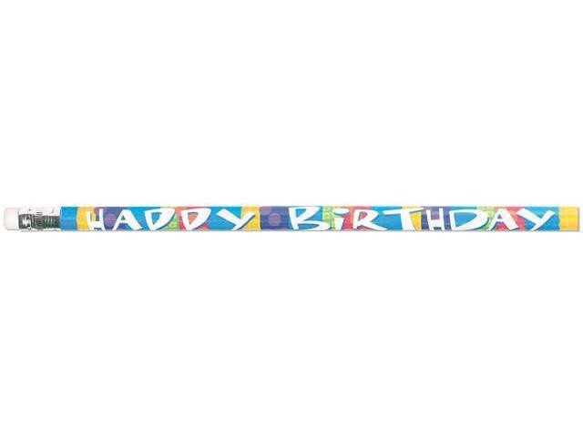 Party Favor Pencils 12/Pkg-Happy Birthday