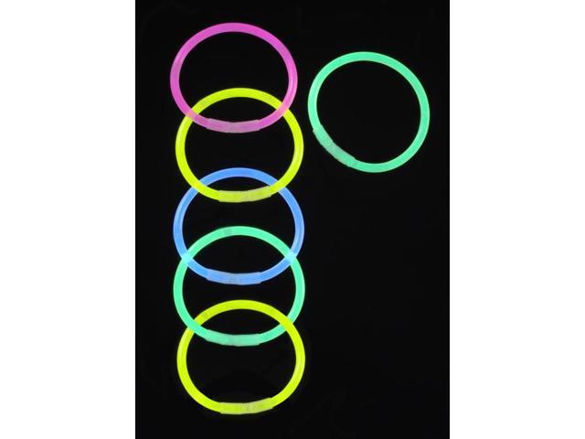Glow Stick Bracelets 6/Pkg-Assorted Neon Colors