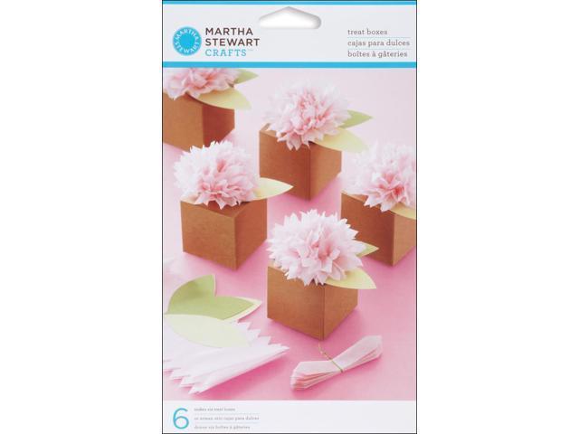 Vintage Girl Pom Pom Treat Boxes 6/Pkg-Flower