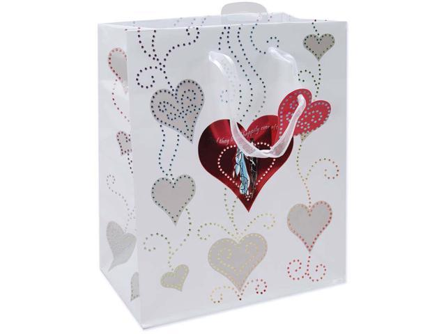 "Foil Gift Bags 10-1/2""X5-3/8""X13""-Bride And Groom"