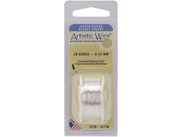 Colored Wire 28 Gauge 15 Yards/Pkg-Natural Non-Tarnish Silver