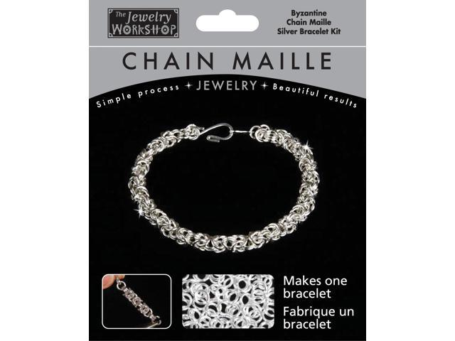 Chain Maille Jewelry Kit-Byzantine Bracelet-Silver