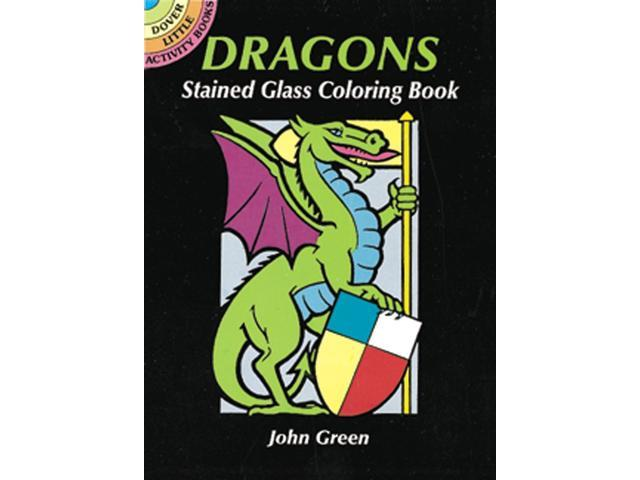 Dover Publications-Dragons Stained Glass Coloring Book