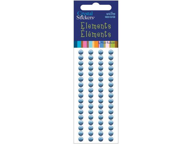 Crystal Stickers Elements 5mm Round 68/Pkg-Light Blue