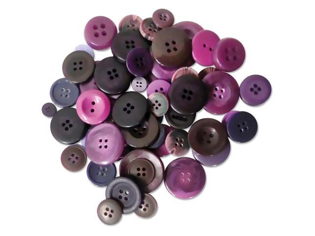 Button Embellishment Fashion Dyed Buttons 60G-Violets