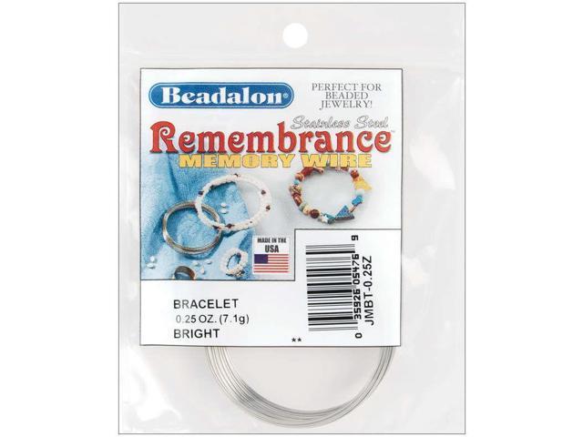 Remembrance Memory Wire Bracelet .62mm .25oz-Bright - 18 Coils