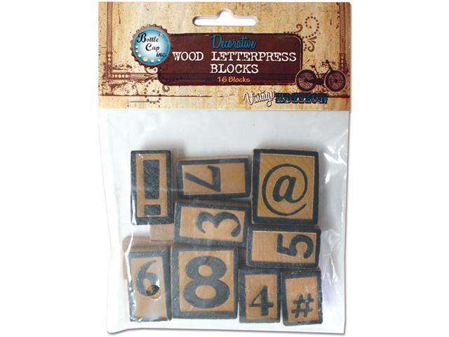 Vintage Collection Letter Press Set 16 Piece-Numbers/Symbols