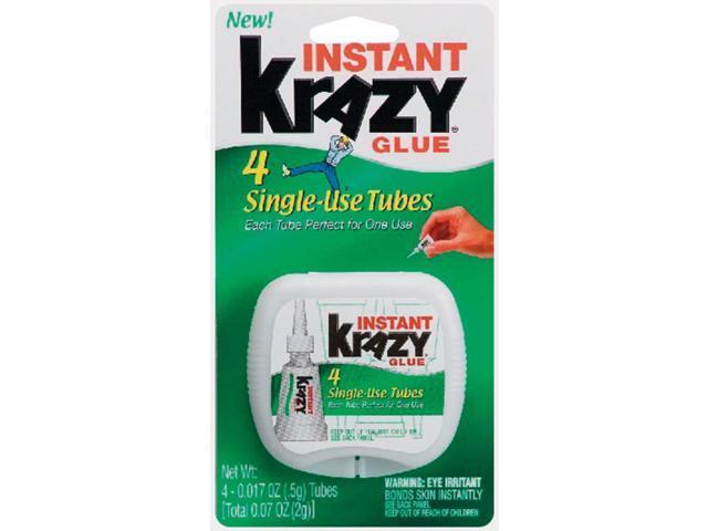 Krazy Glue Single-Use Tubes w/Storage Case 0.07 oz 4/Pack