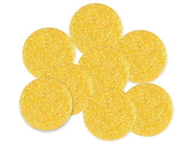 Dress It Up Big Glitter Dots 19mm 8/Pkg-Yellow