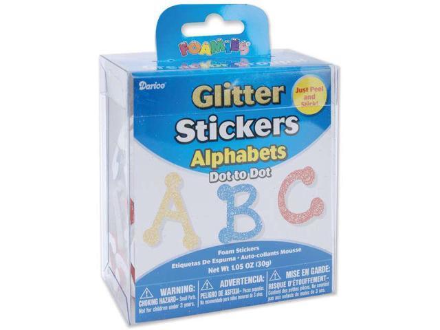 Foam Glitter Stickers 1.05oz-Dot To Dot Alphabet