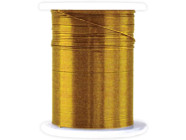 Metallic Beading & Jewelry Wire 28 Gauge 32'/Pkg -Gold