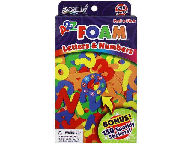 Peel-N-Stick Foam Letters & Numbers 228/Pkg-With 150 Sparkly Stickers