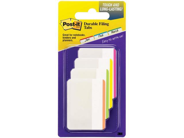 File Tabs 2 x 1 1/2 Lined Assorted Primary Colors 24/Pack