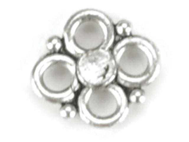 Blue Moon Silver Plated Metal Connectors-Flower 20/Pkg