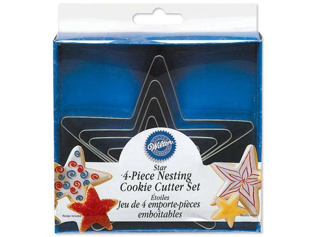 Nesting Metal Cookie Cutters 4/Pkg-Stars