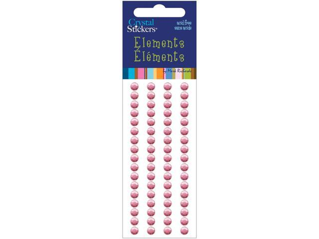Crystal Stickers Elements 5mm Round 68/Pkg-Light Pink