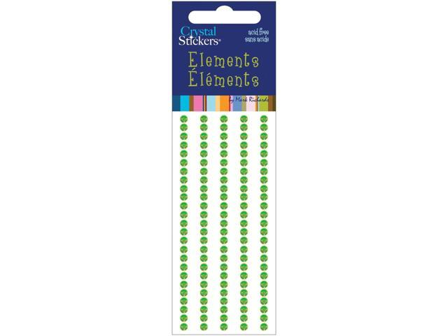 Crystal Stickers Elements 3mm Round 125/Pkg-Green