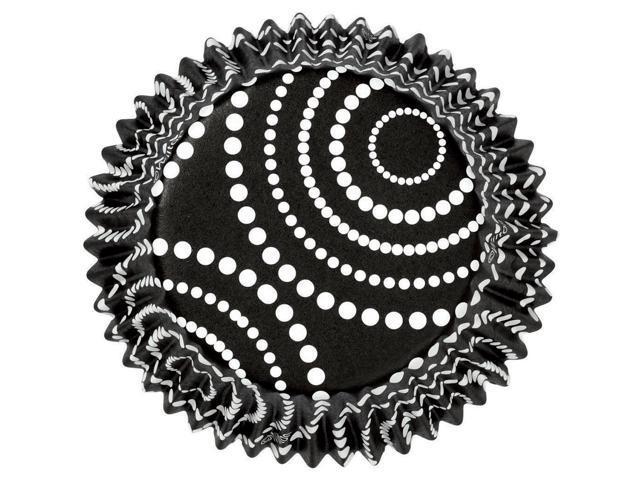 Nut & Party Cups 24/Pkg-Black Dots 1.25 Ounces