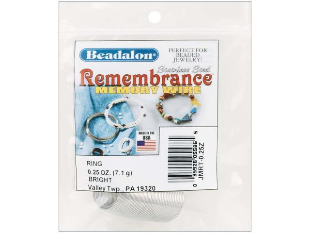 Remembrance Memory Wire Ring .62mm .25oz-Bright - 48 Coils