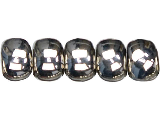 Jewelry Basics Acrylic Beads-Silver Large Wheel 15/Pkg