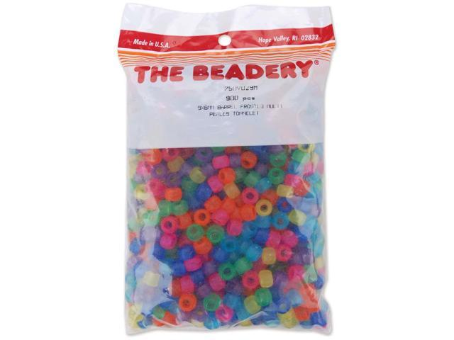 Pony Beads 6mmX9mm 900/Pkg-Frosted Multicolor