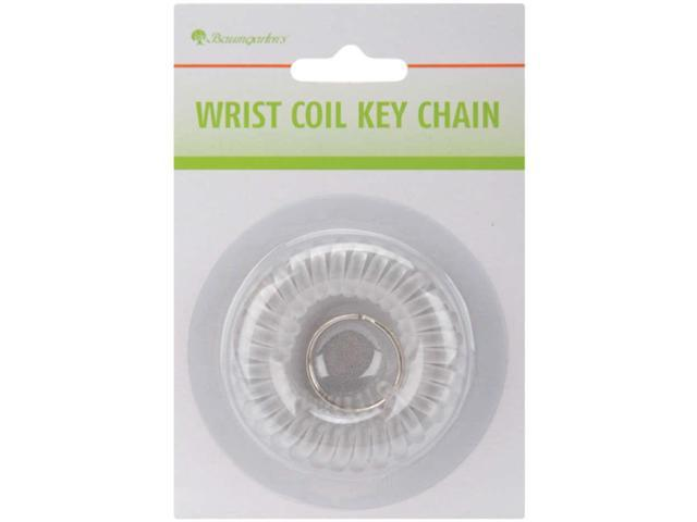 Wrist Coil Key Chain Translucent Assorted