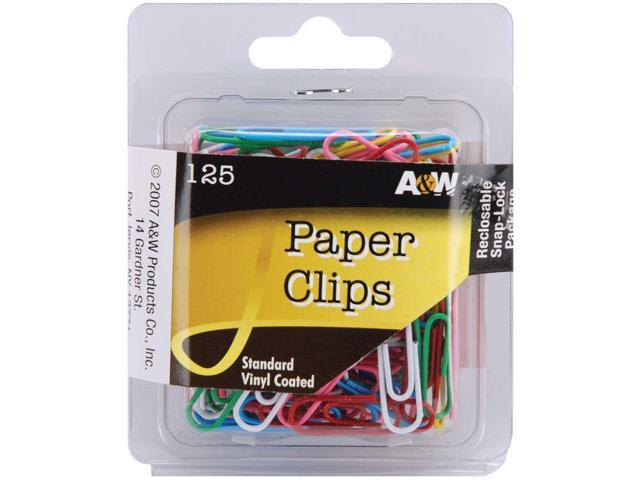 Paper Clips-Vinyl Coated-Assorted Colors 125/Pkg