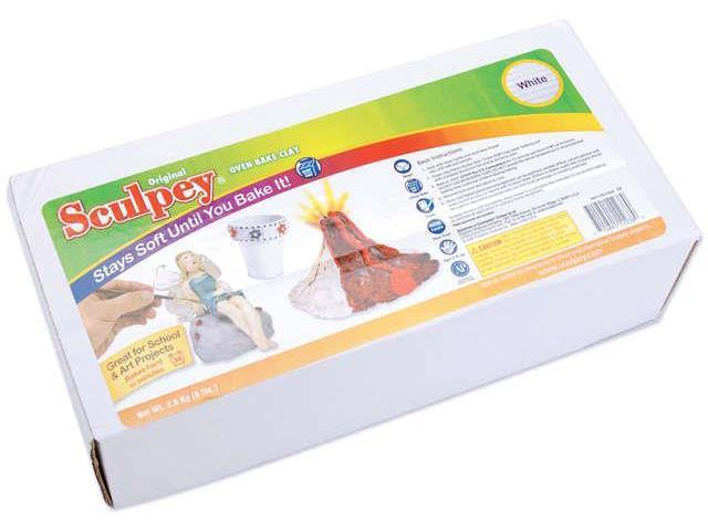 Sculpey Original Polymer Clay 8 Pounds-White