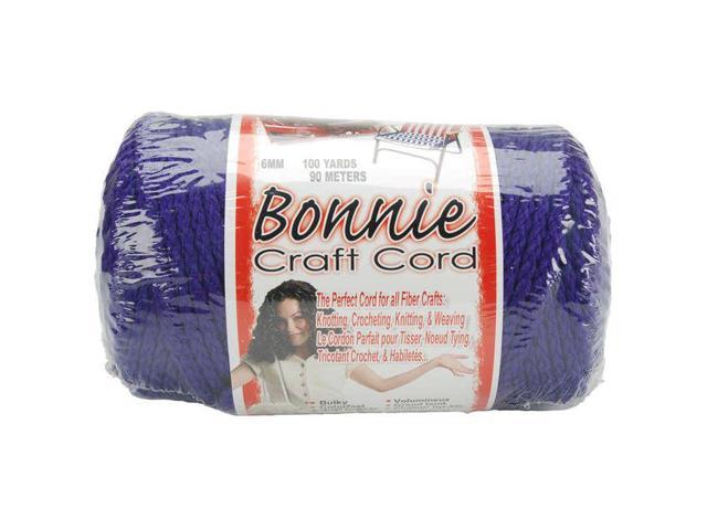 Bonnie Macrame Craft Cord 6mmX100yd-Purple