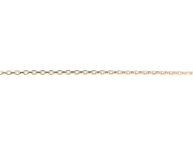Jewelry Basics Metal Chain 1/Pkg-White Gold Small Oval 48